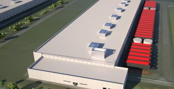 Rendering of QTS's future data center in Manasas, Virginia, using the company's Optimus design