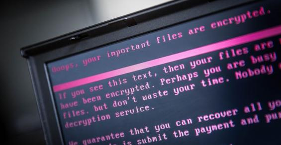 Ransomware message