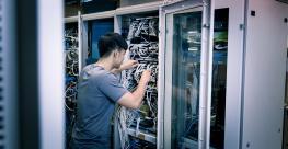 Data center worker