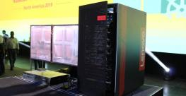 The Lenovo edge cluster used in the NFV-less 5G wireless demo at KubeCon 2019