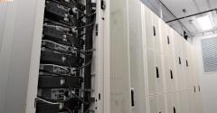 A look inside an EdgeMicro container housing a data center for edge computing.