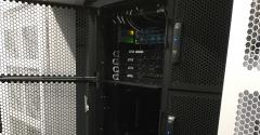 Hivelocity's equipment occupying a quarter of a rack at a Vapor IO edge data center in Atlanta
