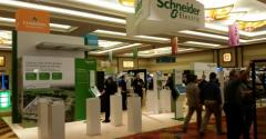 Schneider Electric's stand at Data Center World Fall 2014 in Orlando