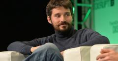 Docker co-founder Solomon Hykes on stage at 2014 TechCrunch Disrupt Europe/London.