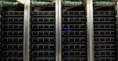 Inside the CERN data center in Meyrin, Switzerland, 2017
