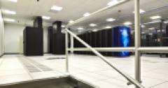Raised floor inside DataBank's data center in Richardson, Texas