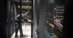 Inside an Equinix data center in Pantin, France