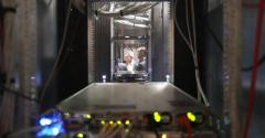 Equipment at Equinix's PA8 data center in Paris during a french economy minister (unseen) visit in 2019