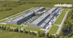 Rendering of Facebook's future data center in Gallatin, Tennessee