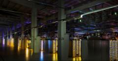A data hall inside Google's data center in Hamina, Finland