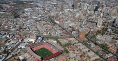 Johannesburg skyline, seen in 2008
