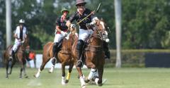 Marc Ganzi, CEO of Digital Bridge who is expected to become CEO of Colony Capital, is a successful polo player. Here he is pictured hitting the ball towards the goal while playing for the Audi team against Colorado during the USPA Gold Cup in March 2018.