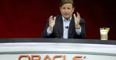 Oracle co-CEO Mark Hurd speaking at Oracle OpenWorld 2018 in San Francisco