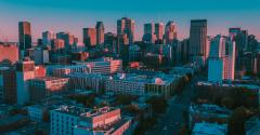 A panoramic view of Montreal