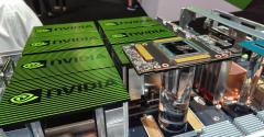 Nvidia's DGX-2 supercomputer for AI on display at GTC 2018 in San Jose, California