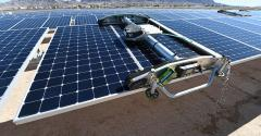 A solar array in Las Vegas