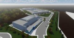 Rendering of the future Vantage data center campus in Ashburn, Virginia