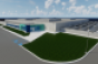Rendering of one of the data centers on the future Vantage campus in Ashburn, Virginia