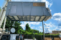 A self-contained Vapor Edge Module (VEM) being craned onto a concrete pad in Pittsburgh