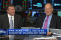Vertiv CEO Rob Johnson (left) and former Honeywell CEO David Cote being interviewed by CNBC host Jim Cramer