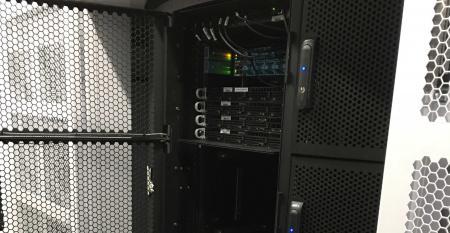 Hivelocity's equipment occupying a quarter of a rack at a Vapor IO edge data center in Atlanta