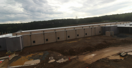 The first building on Compass's planned hyperscale data center campus in Leesburg, Virginia