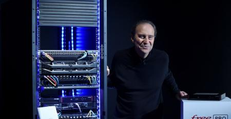 Iliad founder Xavier Niel poses at the group's headquarters in Paris, on March 23, 2021.