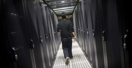 Inside an Equinix data center in Pantin, France