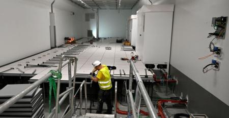 Interxion's MRS3 data center under construction in Marseille