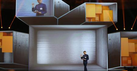 Alibaba Executive Chairman Jack Ma speaks at the 2015 CeBIT technology trade fair in Hanover