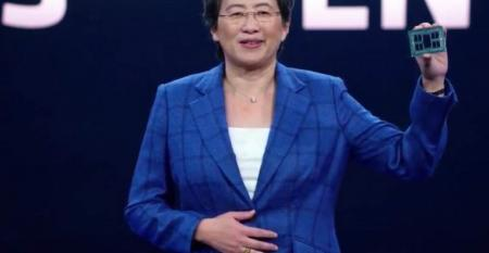 Lisa Su, AMD president and CEO, speaking at the third-gen Epyc (Milan) server processor launch.