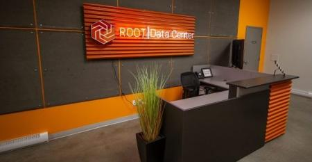 Lobby in one of Root's Montreal data centers