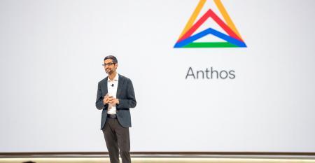 Alphabet CEO Sundar Pichai unveiling Anthos at Google Cloud Next 2019