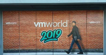 Street poster outside VMworld 2019 in San Francisco.