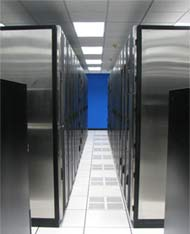 Inside the new AIS data center in San Diego.