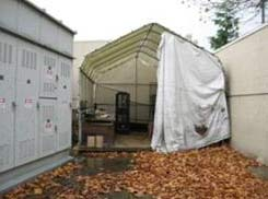 Microsoft data center in a tent