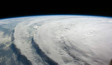 Hurricane Ike as seen from the International Space Station (NASA photo).