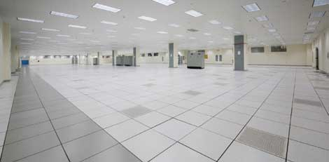 The main data center floor at Burges Property Company's new Datasite Orlando.