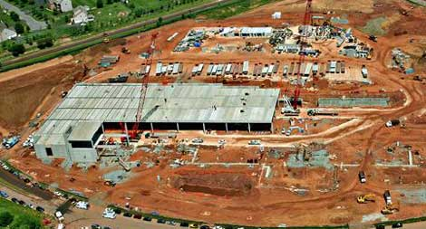 The DuPont Fabros ACC5 data center in Ashburn, Virginia under construction last year.