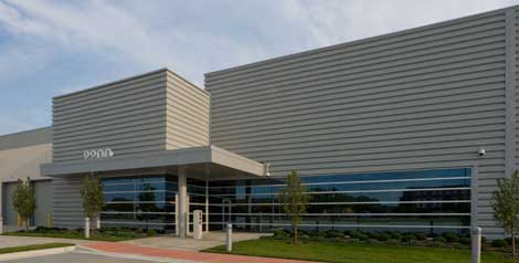 The DuPont Fabros CH1 data center, where ServerCentral has leased space.