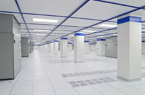 The interior of the new CoreSite data center expansion in Chicago.