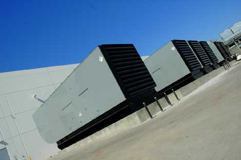 The facility is currently backed by eight generators, and will use 32 Caterpillar gensets at completion.