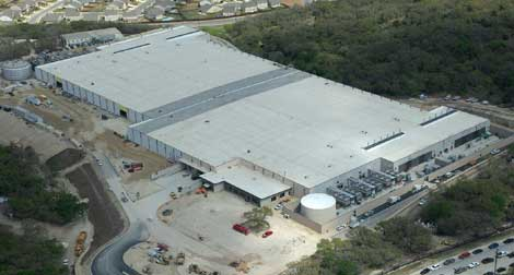 An aerial view of the 470,0000 square foot Microsoft data center in San Antonio, Texas (Photo: Microsoft)
