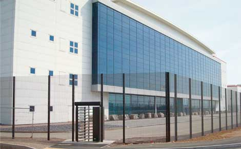 An exterior view of the Next Generation Data Ltd. facility in Newport, Wales.