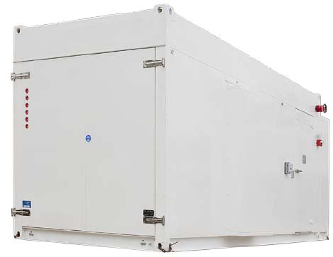 The new 20-foot version of the HP Performance Optimized Datacenter (POD) container.
