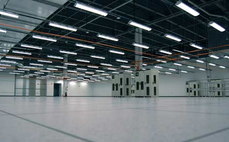Some of the data center space inside the Latisys Chicago data center