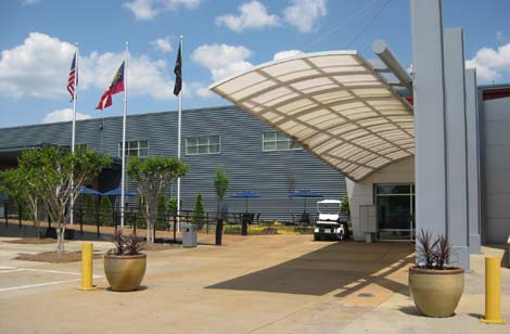 The exterior of the QTS Metro Atlanta data center.