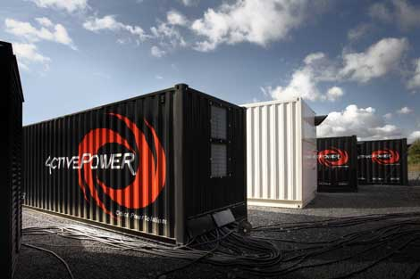 An Active Power PowerHouse unit providing containerized power infrastructure for a modular data center.