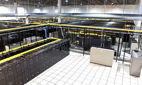 A look at the interior of one of the RagingWire data centers in Sacramento. NTT Communications has acquired 80 percent of RagingWire.