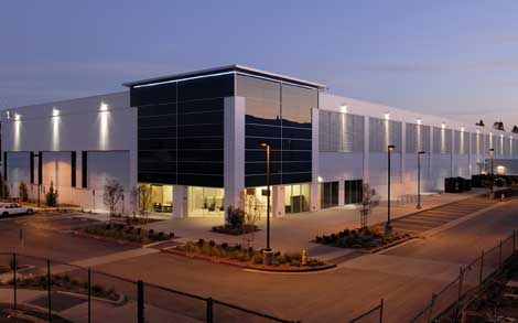 The exterior of a data center on the Vantage Data Centers campus in Santa Clara, Calif. (Photo: Vantage)